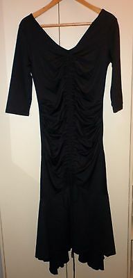 1920s STYLE BLACK MATERNITY DRESS SIZE SMALL  EXCELLENT CONDITION
