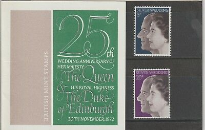 GB 1972 Presentation Pack 45. Royal Silver Wedding.