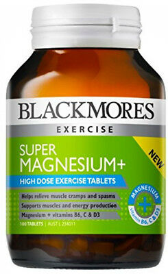 Blackmores Super Magnesium Plus (100 Capsules) vitamin C healthy metabolism