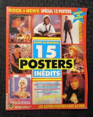 1987 ROCK NEWS French Poster Magazine #15 FN+ 6.5 Madonna / A-Ha / Europe