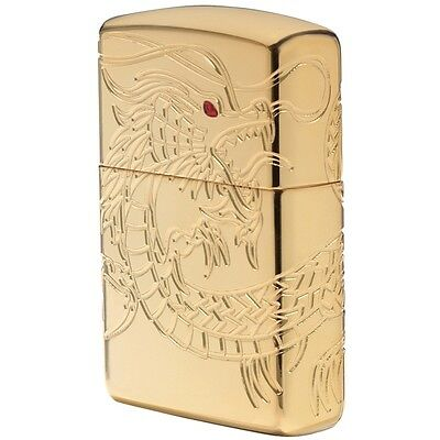 "Zippo ""Dragon"" Multi-Cut Armor Lighter, Gold Plated Finish,  29265"