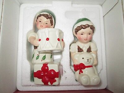 Lenox Holiday Christmas ELF Salt and Pepper Shakers New