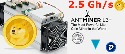 2.5 GH/s for 24 hours Scrypt Litecoin 5xASIC Miner Antminer L3+