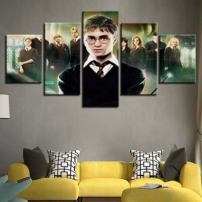 Home Decor Harry Potter Classmates Movies Canvas Prints Painting Wall Art 5PCS