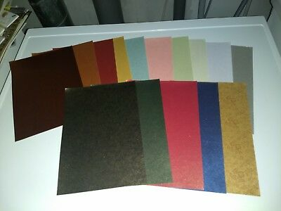 15 Sheets Flower Paper In Different Colours/ 1Side/ 21X15 Cm (A) New