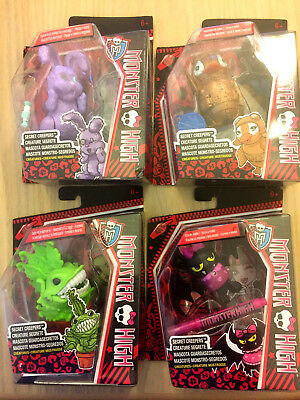 4 x Monster High Secret Creepers Chewlian/Dustin/Captain Penny/Count Fabulous