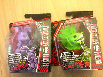 2 x Monster High Secret Creepers - Chewlian And Dustin