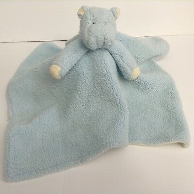 Blue Hippo Security Blanket Lovey Sherpa White Underneath