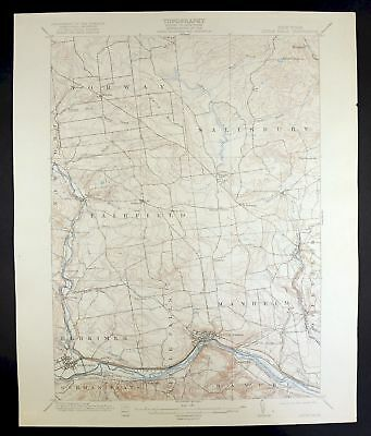 1903 Little Falls New York Herkimer Vintage USGS Topographic Topo Map
