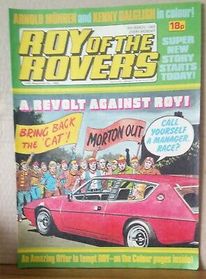 Roy of the Rovers Comic in very good condition dated 5th March 1983