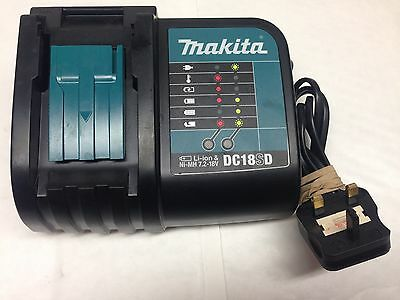 Genuine Makita 18V Dc18Sd 240V Slide On Battery Charger Blue/black Used