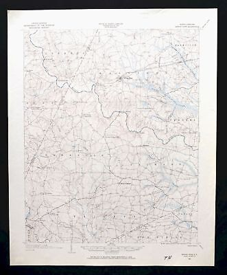 Spring Hope North Carolina Vintage USGS Topo Map 1902 Middlesex Topographic