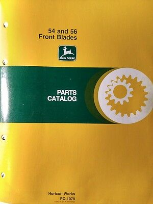 John Deere Lawn Garden 120 140 300 400 420 317 318 54 56 Dozer Plow Parts Manual