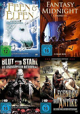 22 FILME FANTASY Collection TROLLKÖNIG Elfen MERLIN Tempelritter MITTELERDE DVD