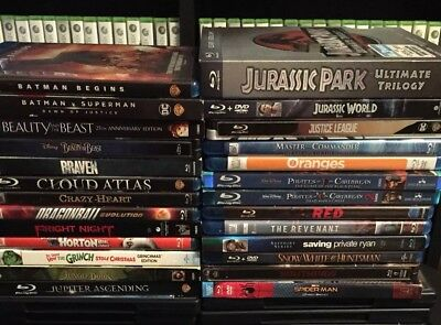 Blu Ray Movie Lot (Blu Ray Only)