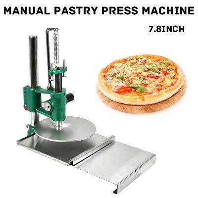 "Hot 7.8"" Pizza Dough Pastry Manual Press Machine Roller Sheeter Pasta Maker"