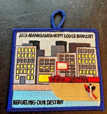 Amangamek Wipit OA Lodge 470 2019 Banquet Patch NCAC *Brand New*