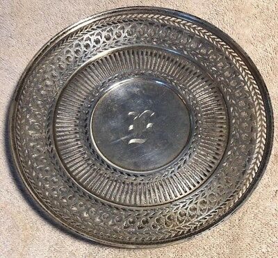 Vintage Wilcox And Wagoner Sterling Silver Pierced Tray