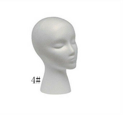 Foam Female Head Mannequin Wig Hat Glasses Display Stand Model For shop