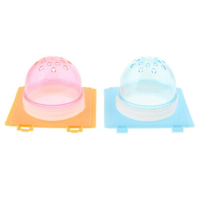 2Pcs Small Animal Dwarf Hamster Ferret Gerbil Cage Hole Cover Plug