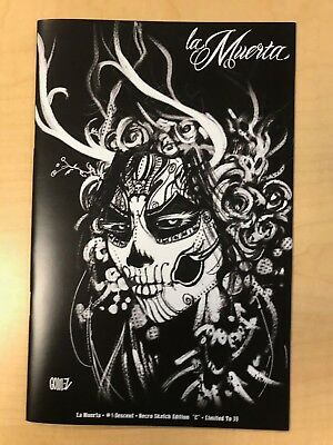 La Muerta Descent #1 Necro Sketch Variant C Cover by Joel Gomez Only 30 Made