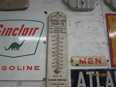 Very Early Original Valvoline Motor Oil Wooden Thermometer Real Clean