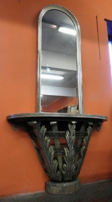 Beautiful Antique Console With Mirror Art Deco' Years 30 40