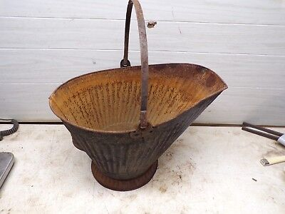 Old Metal Coal Hod Bucket  for Garden Planter Flower Pot