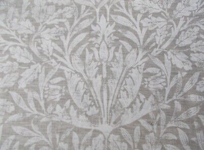 "WILLIAM MORRIS CURTAIN FABRIC DESIGN ""Pure Acorn"" 3 METRES 100% LINEN"