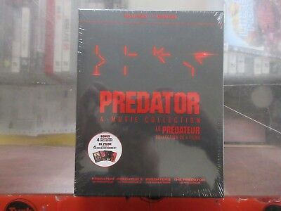 BRAND NEW Predator 4 Movie Collecton (Blu Ray + Digital)