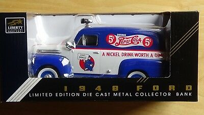 Spec Cast 1948 Ford Panel Pepsi Cola LE Die Cast Metal Collector Bank NEW