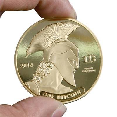 2014 American Knight Of Titan Bitcoin Gold/Silver Plated Commemorative Coins
