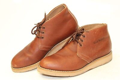 Red Wing Shoes VINTAGE USA Made Mens 8.5 C Leather Chukkas Ankle Boots 20379 :bd