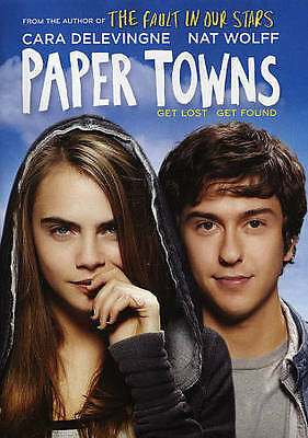 Paper Towns Blu Ray DVD - based on John Green book BRAND NEW Great Gift