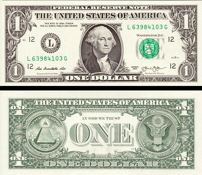 """USA - United State of America 1 Dollar 2013 """"L"""" S.Francisco CA FDS - UNC"""