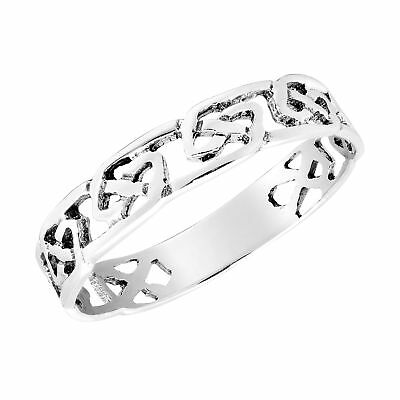 Intricate Band of Celtic Knots Sterling Silver Ring-6