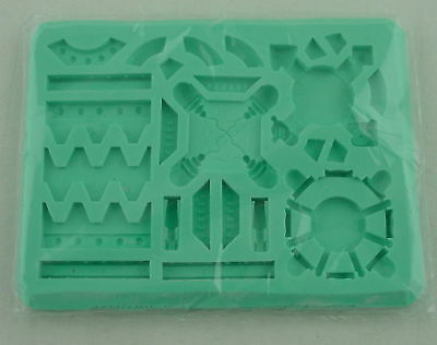 Hirst Arts #424 Factory Tiles Sci-Fi Miniatures Silicone Mold
