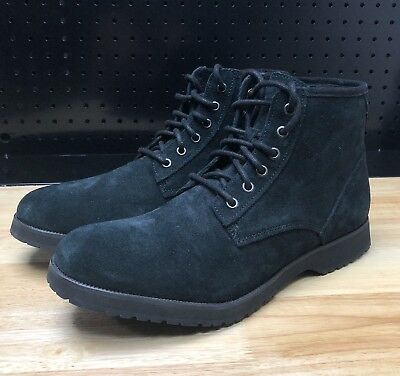 691f112b764 UGG MAGNUSSON BOOTS Mens size 11 Black Leather & Suede lace up ...