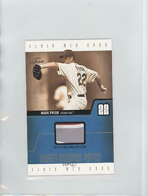 2003 Flair Sweet Swatch Jumbo Jerseys Patch/290 #MP-SSPE Mark Prior Chicago Cubs