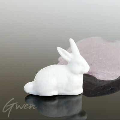 Feve Ancienne Allemande Lapin 25 x 22 mm Miniature Biscuit 1890 Figurine