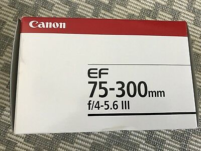 Canon ef 75-300mm f/4-5.6 iii lens. Brand new.