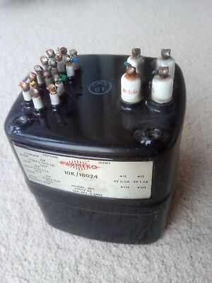 Parmeko  LT transformer 6.3v by 3 and 4v by 2 1960's good order Neptune oil