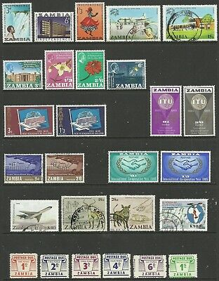 Zambia - Selection of commemoratives & postage dues (inc omnibus issues)