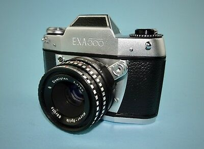 Exa 500 SLR camera in near mint cosmetic condition - Meyer-Optik Domiplan lens