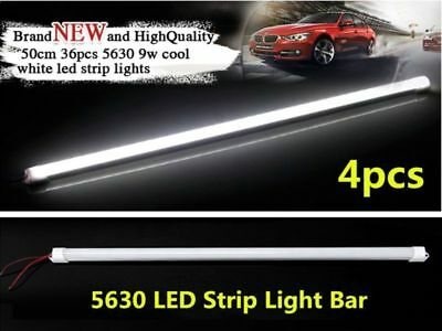 4pcs Cool White 5630 LED Strip Light Bars 12V Waterproof For Camping Boat Car AU