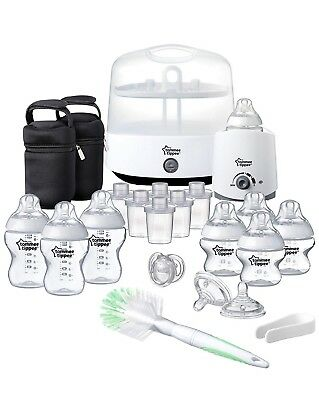 Tommee Tippee Closer to Nature Complete Feeding Set, White NEW In Sealed Box