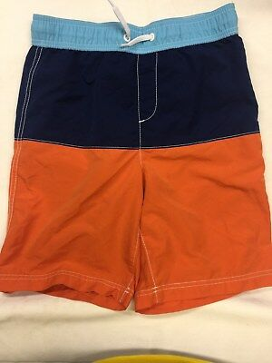 f7acb5d4f3 EUC LANDS END Size 8 Small Boys Swim Trunks Shorts Blue With Sharks ...