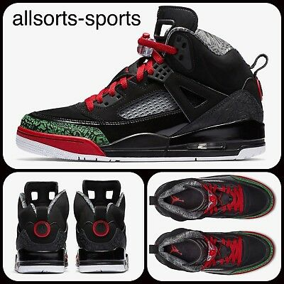 outlet store e7ac3 0d4bb Nike Air Jordan Spizike Trainers 315371-026 317321-026 Black Green