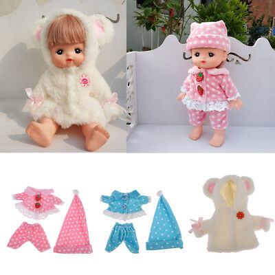 "Lovely Clothes for MellChan Baby Doll 9-11"" Doll Jacket Plush Coat Pants Hat"