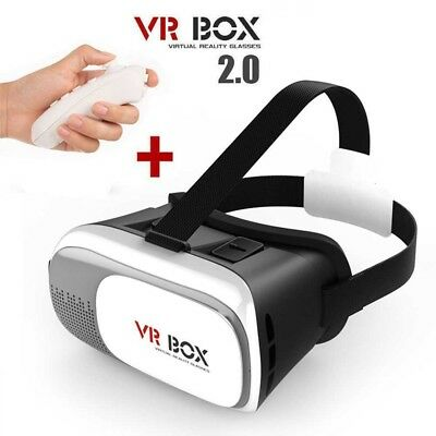 """VIRTUAL REALITY GLASSES 3D VR BOX 2.0 Video For Smartphone 3,5"""" - 6,0"""" Control"""